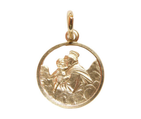 Geel gouden beschermheer hanger