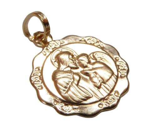 Gouden Christus beschermheer hanger