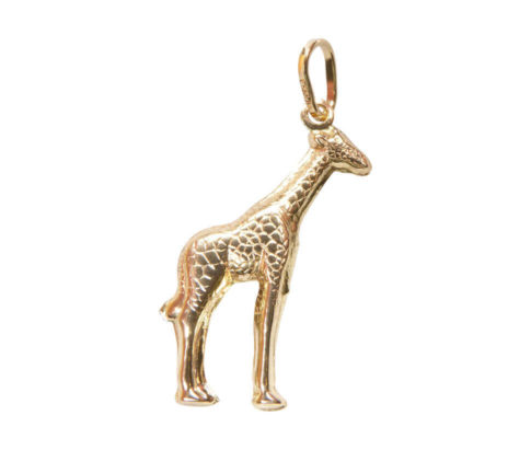 Gouden giraffe hanger