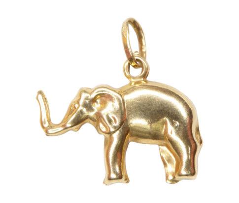 Gouden olifant hanger