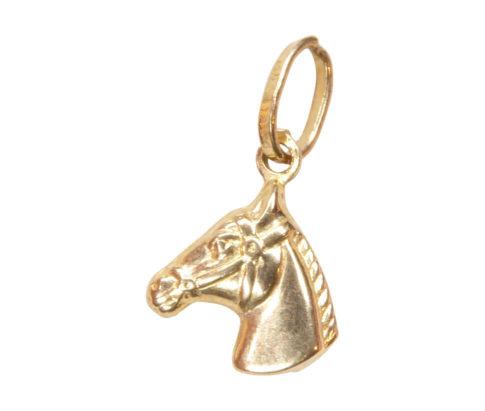 Gouden paardenhoofd hanger