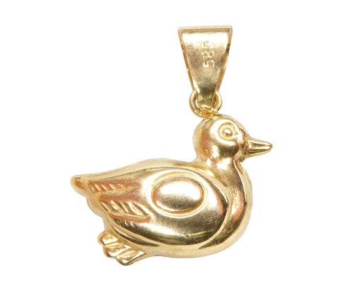 Gouden vogel hanger