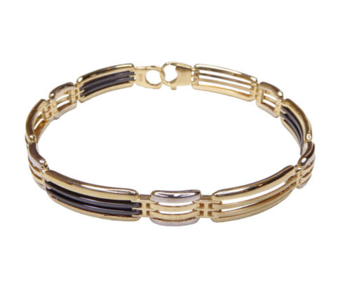 14 karaat armband met keramiek