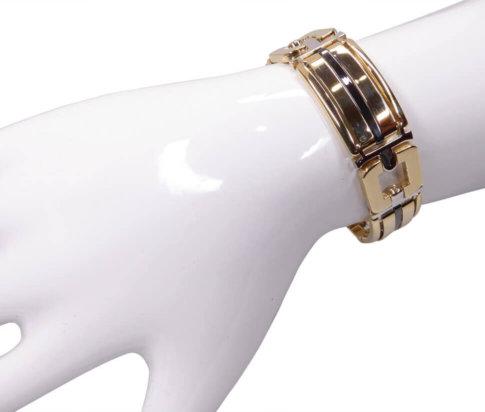 14 karaat bicolor armband met keramiek