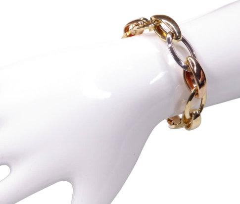 14 karaat holle tricolor armband