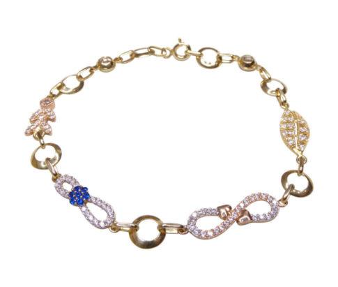 14 karaat bicolor armband met zirkonia