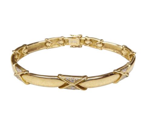 18 karaat armband met diamant