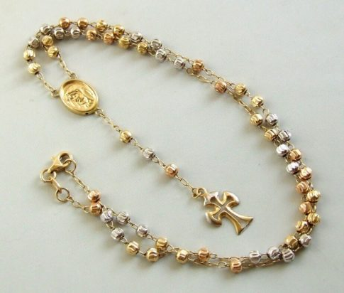 18 karaat gouden rozenkrans