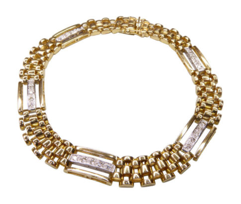 18 karaats bicolor armband met diamant