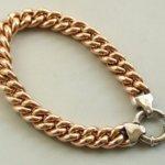 14 karaat gouden rosé&wit armband
