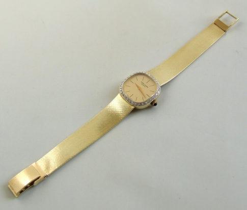 Geel gouden horloge met diamanten