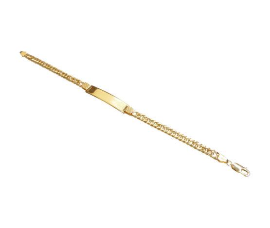 Geel gouden naamplaat armband