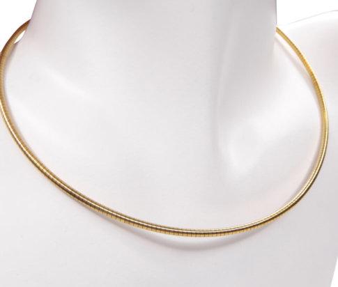 Geel gouden spang collier