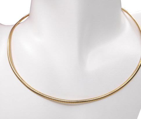 Geel gouden spang collier half rond