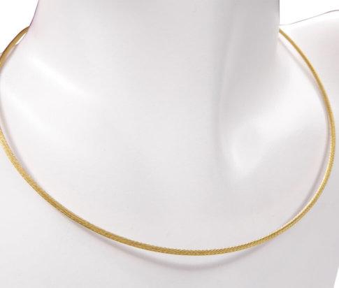 Gouden omega spang collier