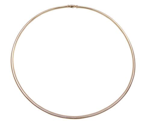 Gouden spang collier rond