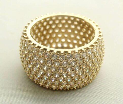 14 karaat gouden ring met zirkonia