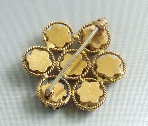 Gouden hanger met saffier en robijn