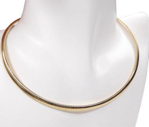 Gouden spang omega collier