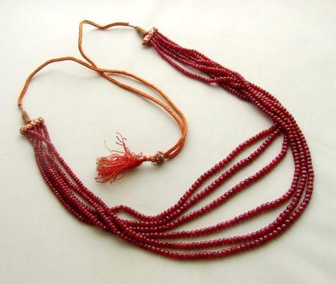 Robijn collier met hanger