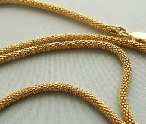 Geel goud collier