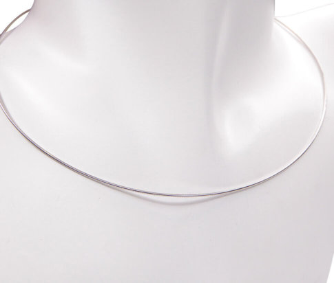 Wit gouden omega spang mat