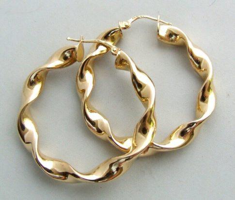 14 karaat Christian geel gouden oorbellen