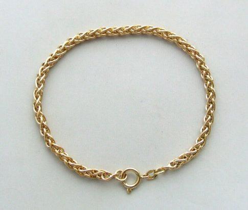 14 karaat gouden vossenstaart armband