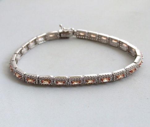 14 karaat gouden armband met zirkonia en citrien