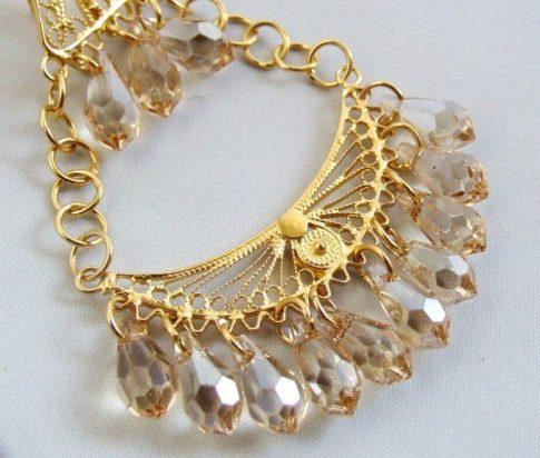21 karaat gouden oorbellen met citrien
