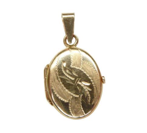 14 karaat geel gouden medaillon