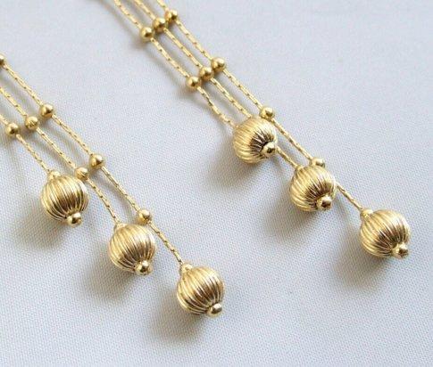 14 karaat gouden Christian oorbellen
