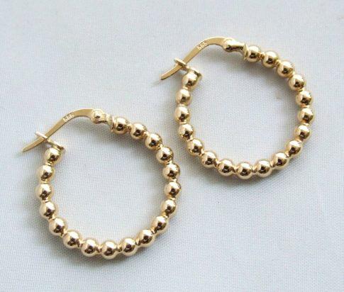14 karaat gouden bolletjes oorbellen