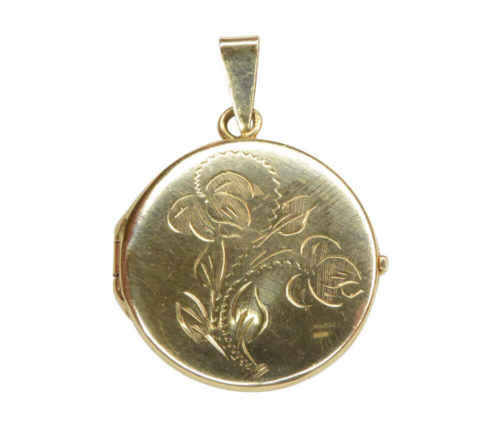 Geel gouden medaillon