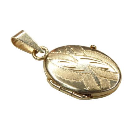 Geel gouden medaillon hanger