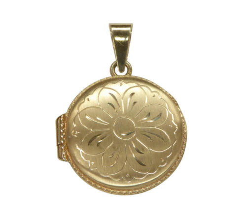 Geel gouden medaillon lotus bloem
