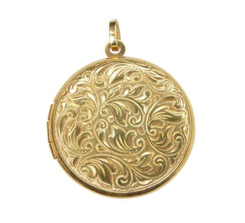 Geel gouden medaillon met motief