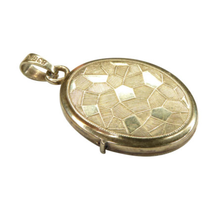 Gouden mozaïek medaillon