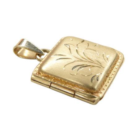 Gouden vierkante medaillon
