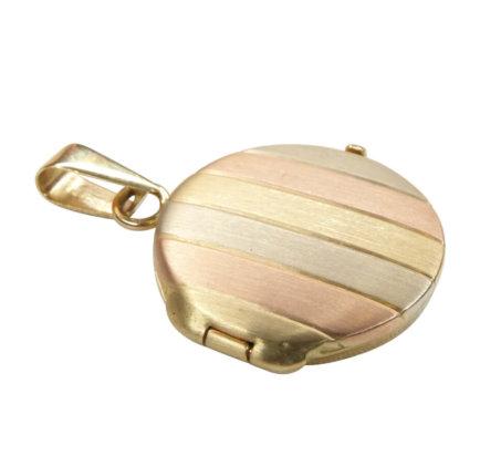 Tri color gouden medaillon hanger