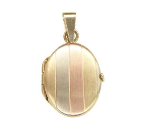 Tricolor gouden medaillon