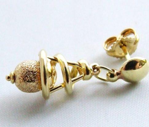 14 karaat Christian gouden oorbellen