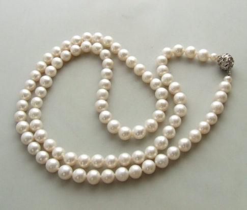 18 karaat gouden collier met parels
