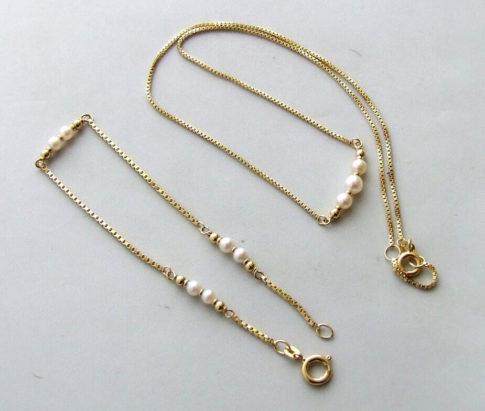 Christian geel gouden collier met parels