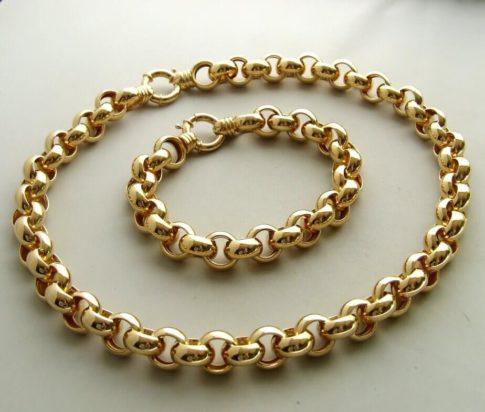 18 karaat gouden collier en armband
