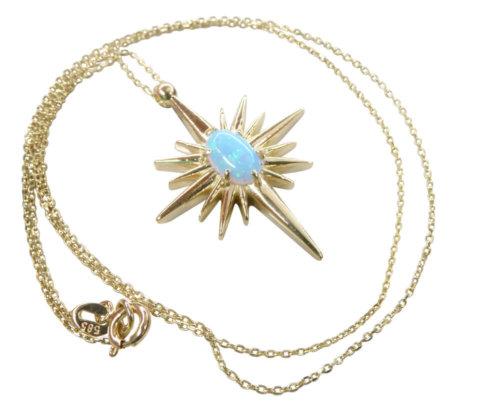 Gouden opaal ster hanger