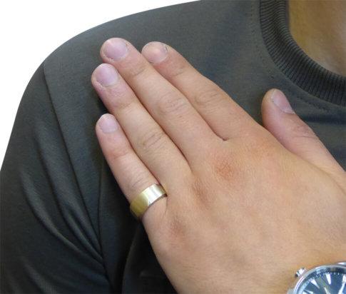 Christian bicolor cachet ring