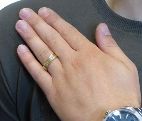 Christian geel gouden cachet ring