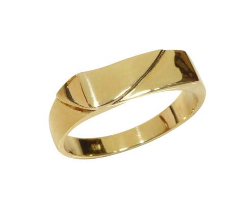 Geel gouden cachet ring
