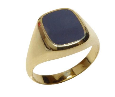 14 karaat gouden lagensteen cachet ring
